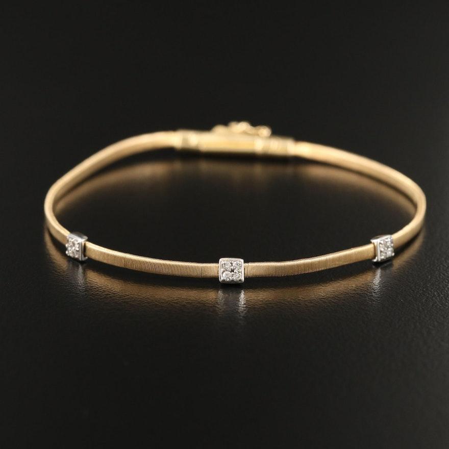 """Marco Bicego """"Masai"""" 18K Diamond Bracelet"""