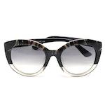 ETRO ET600SA Paisley Black Acetate Frame Sunglasses with Gradient Lenses