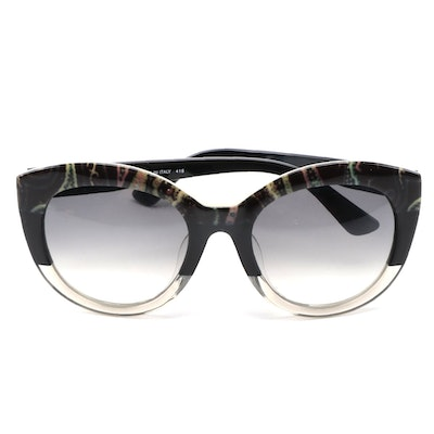 ETRO ET600SA Paisley Black Acetate Frame Sunglasses with Gradient Lenses