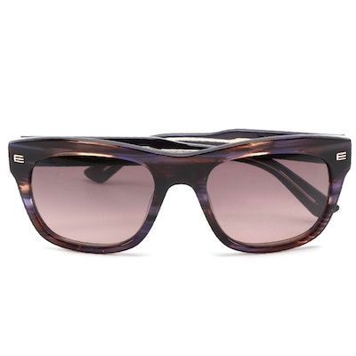 ETRO ET605S Striped Violet Acetate Frame Sunglasses with Gradient Lenses