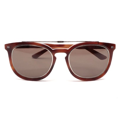 ETRO ET641S Blonde Havana Acetate Browline Sunglasses