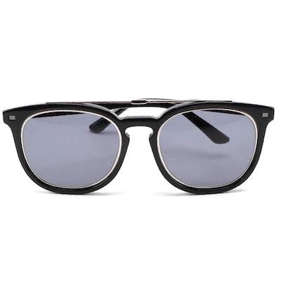 ETRO ET641S Black Acetate Browline Sunglasses