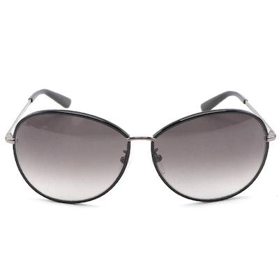 ETRO ET101SK Black and Silver-Tone Metal Frame Sunglasses