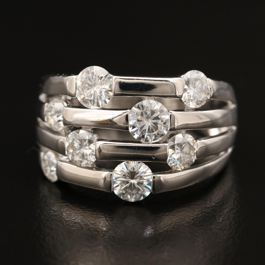 Sterling Moissanite Ring