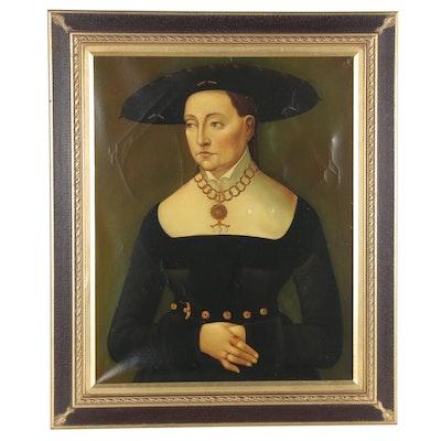 "Oil Portrait after Hans Brosamer ""Katharina Merian"""