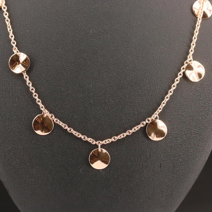 """Ippolita Rosé """"Paillette"""" Sterling Silver Necklace"""