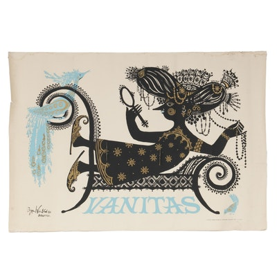 "Serigraph Poster after Bjørn Wiinblad ""Vanitas,"" 1954"