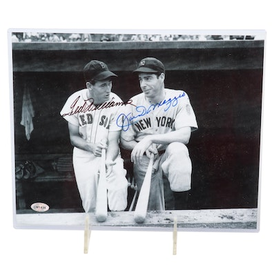 Ted Williams and Joe DiMaggio Autographed MLB Picture