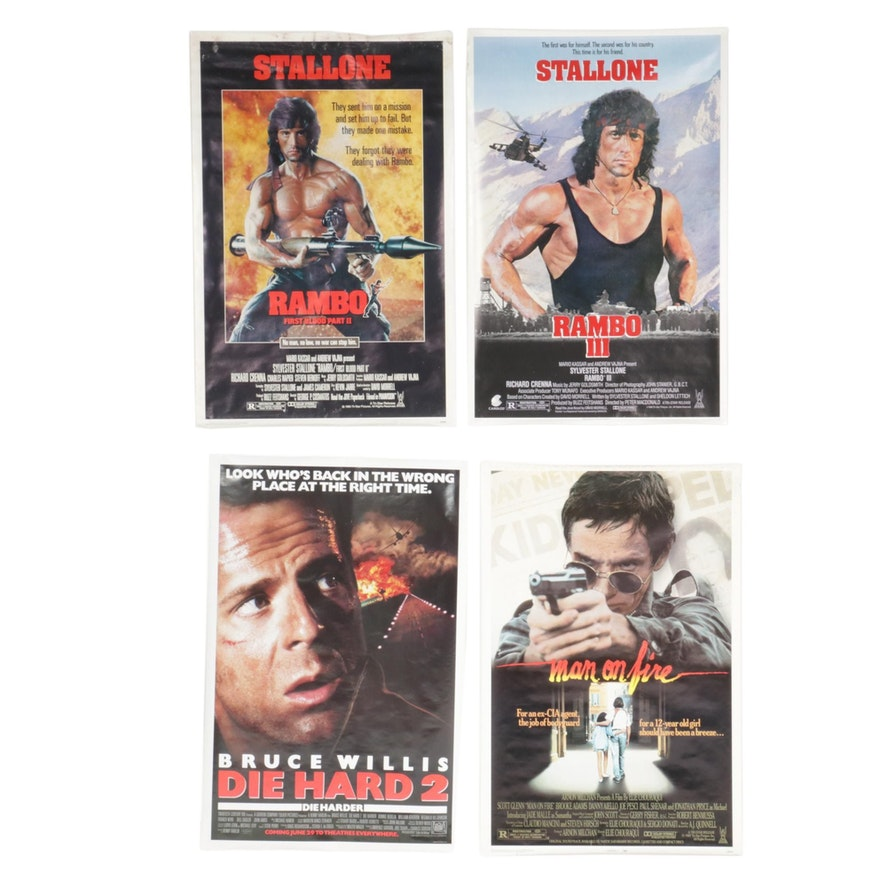 """""""Rambo: First Blood"""" and More Action Thriller One Sheet Movie Posters, 1980s"""