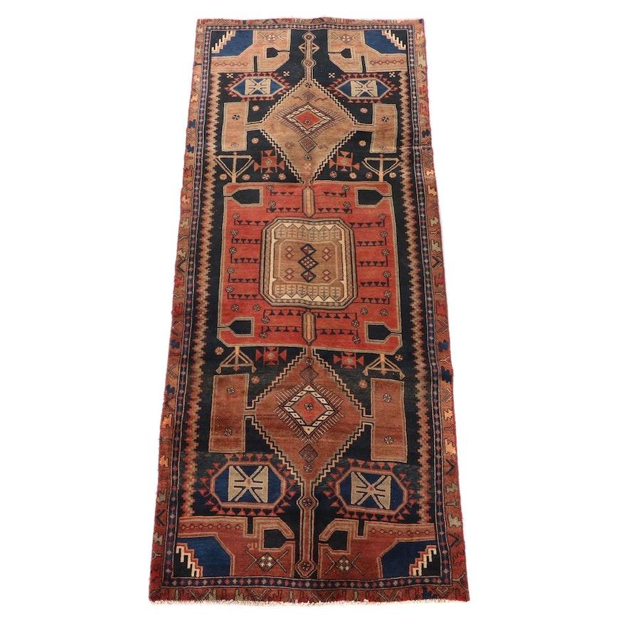 3'10 x 9'9 Hand-Knotted Persian Kakaberu Long Rug, circa 1930s