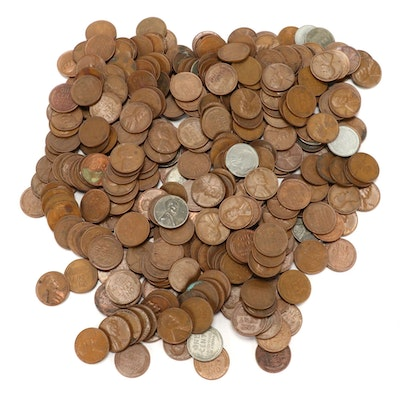 400 Lincoln Wheat Cents, 1940s-1950s
