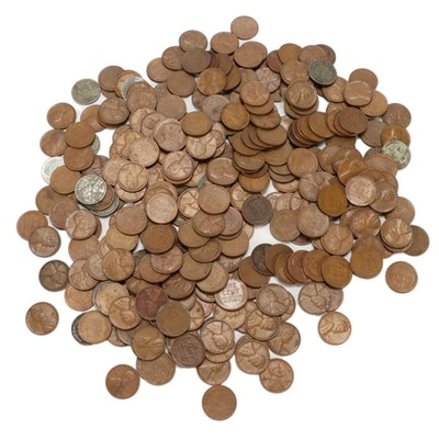300 Lincoln Wheat Cents, 1930s–1950s