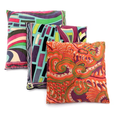 Emilio Pucci Retro Style Accent Pillows, 1960s-70s