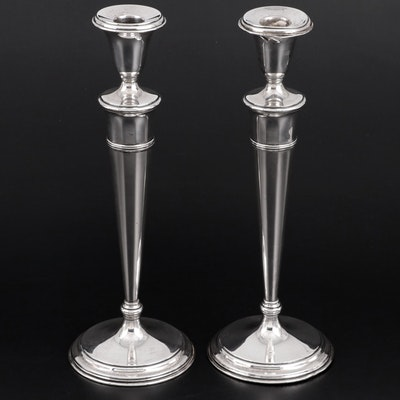 Lebkuecher & Co. Weighted Sterling Silver Candlesticks, 1896–1909