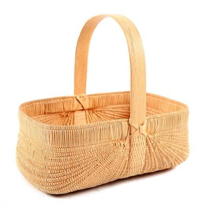 Kathleen and Ken Dalton Handwoven White Oak Melon Basket