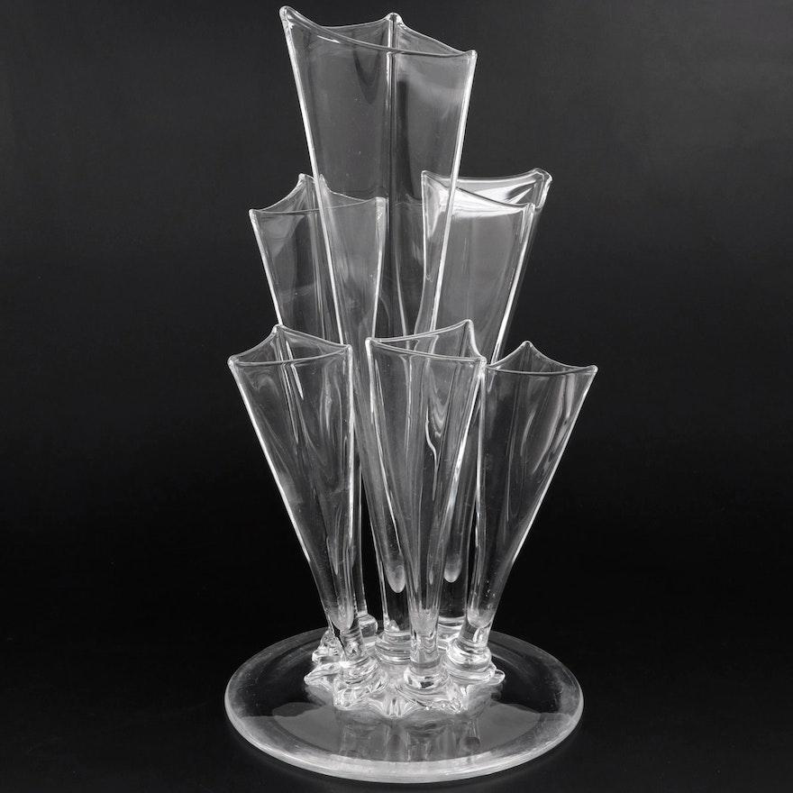 Steuben Art Glass Epergne Designed by Frederick Carder