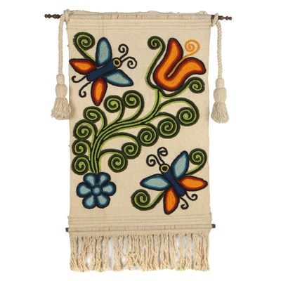 Mexican Folk Art Textile Wall Hanging