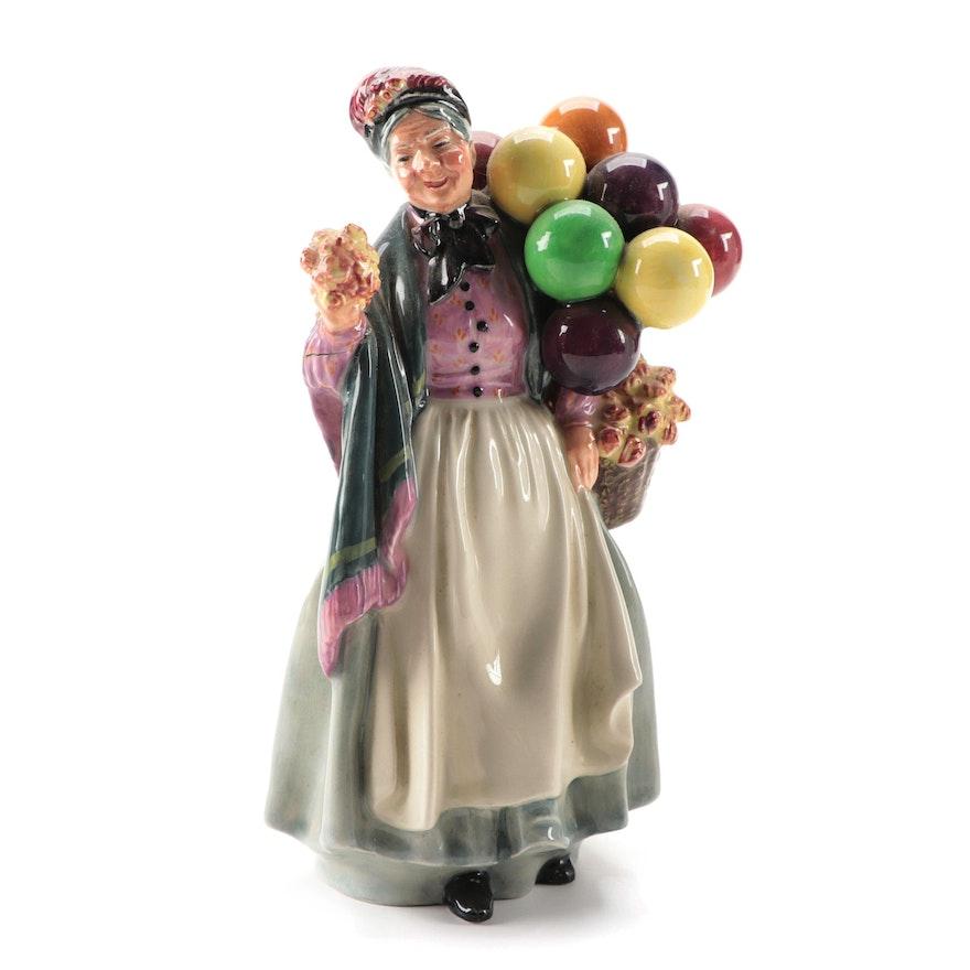 "Royal Doulton ""Biddy Pennyfarthing"" Porcelain Figurine"