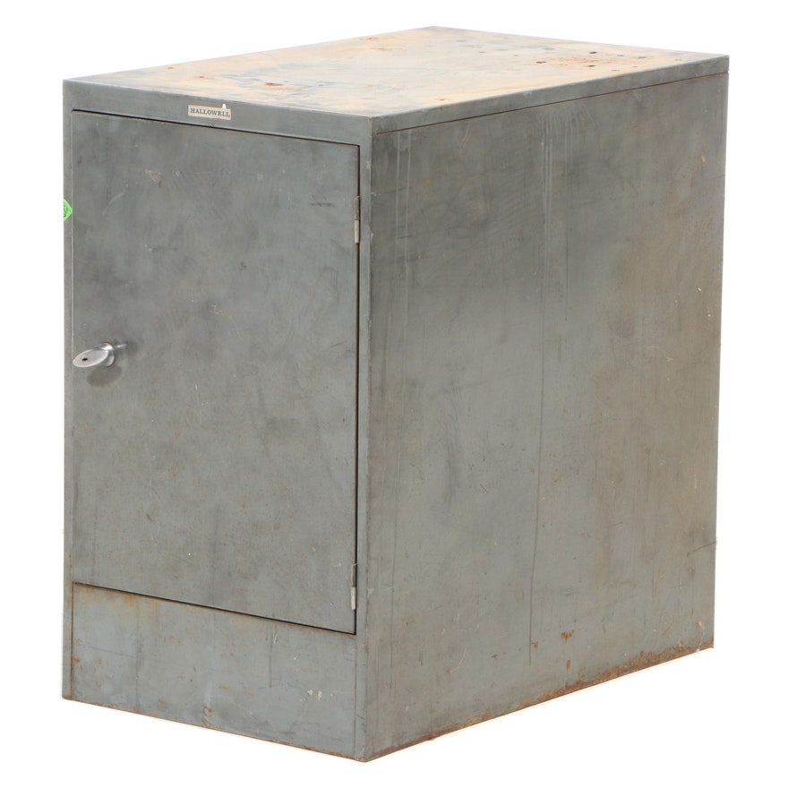 Hallowell Metal Storage Cabinet, Mid to Late 20th Century