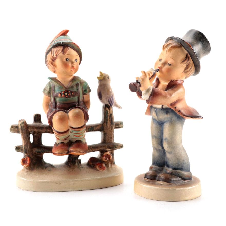 "Goebel ""Wayside Harmony"" and ""Serenade"" Porcelain Hummel Figurines"