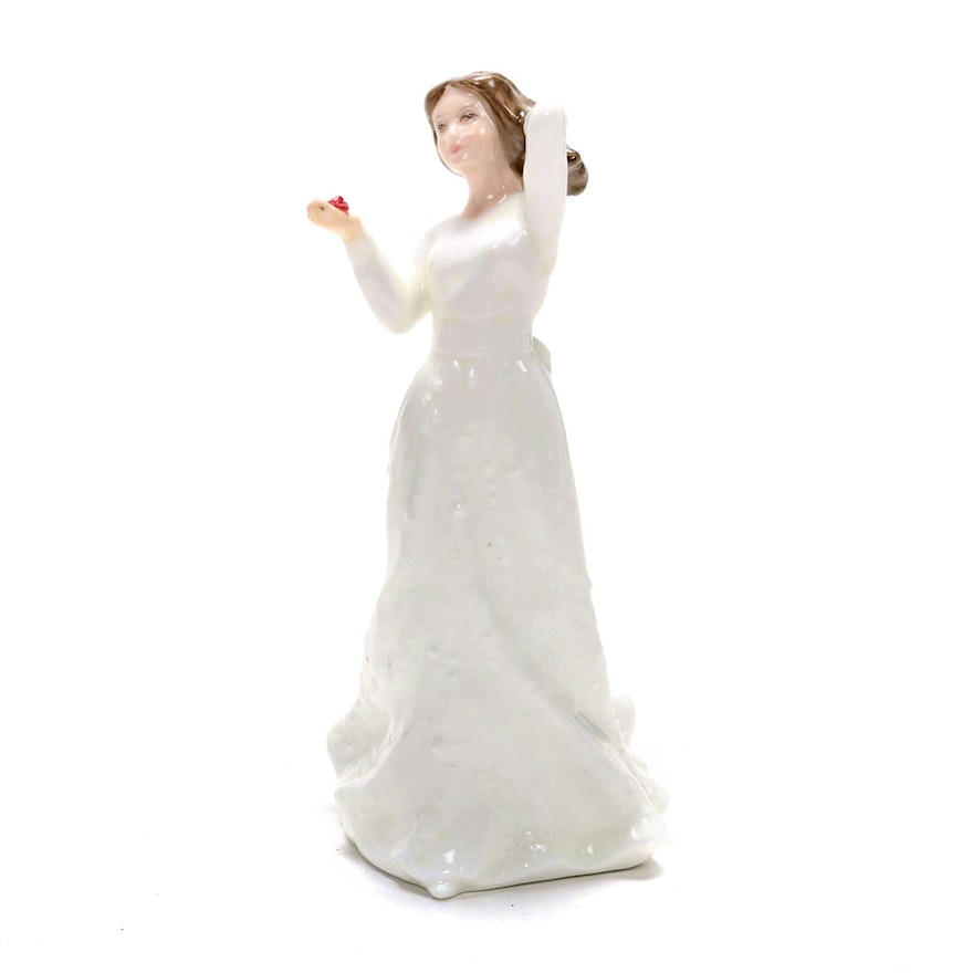 """A. Maslonkowski for Royal Doulton """"With Love"""" Porcelain Figurine, 1992"""