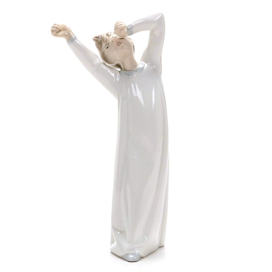 "Lladró ""Boy Awaking"" Porcelain Figurine Designed by Fulgencio García"