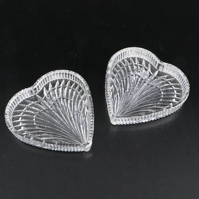 Pair of Marquis by Waterford Crystal Heart-Shaped Dishes