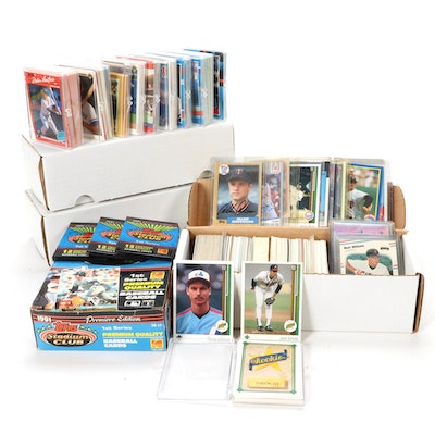 Autographed Allen Anderson and Joey Belle, and Other Baseball Cards, 1970s-1990s