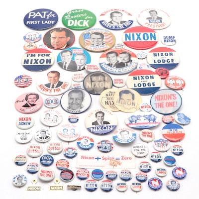 Richard Nixon U.S. Presidential Campaign Pinbacks, 1960s-1970s