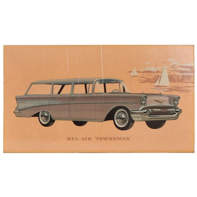 "Bel Air ""Townsman"" Dealership Advertising Off-Set Lithograph, 1950s"