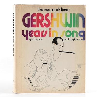 "Ira Gershwin Signed ""New York Times Gershwin Years in Song"" Sheet Music, 1973"