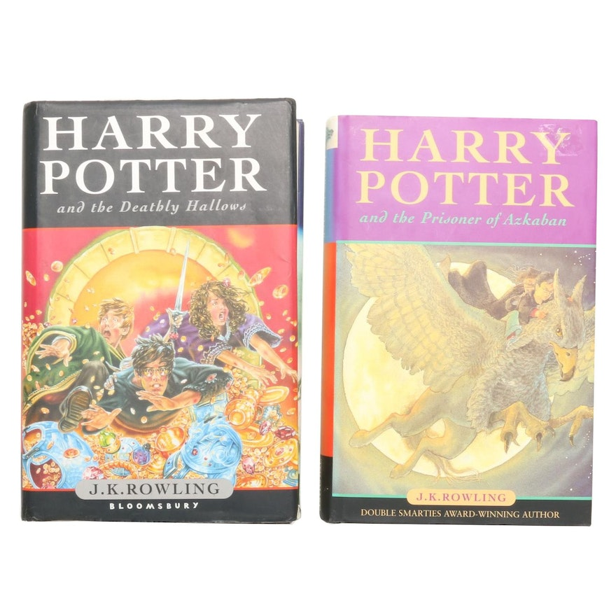 "First UK Edition ""Harry Potter and the Deathly Hallows"" by Rowling and More"