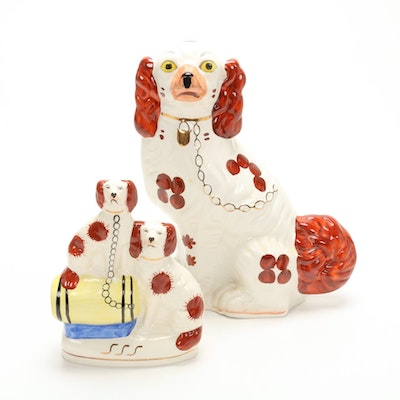 Staffordshire Style Dog Figurines, Mid-20th Century