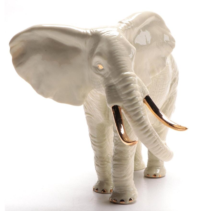 "Lenox ""The Majestic Elephant"" Ceramic Figurine, 1996"