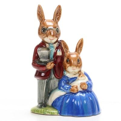 "Royal Doulton Bunnykins ""Family Photograph"" Porcelain Figurine"
