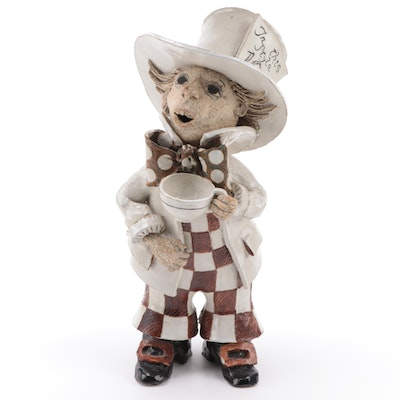 """Alice in Wonderland"" Mad Hatter Ceramic Figurine, Late 20th Century"