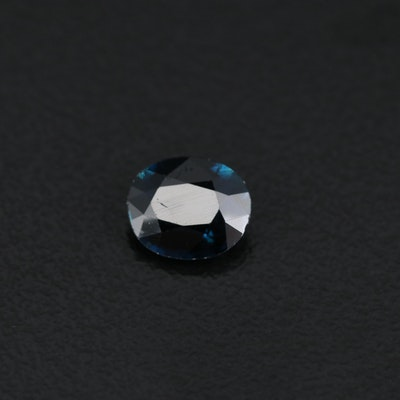 Loose 1.09 CT Oval Faceted Sapphire