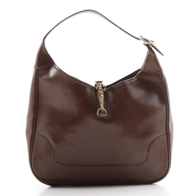Hermès Trim Shoulder Bag in Brown Box Calf Leather