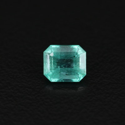 Loose 0.82 CT Emerald Faceted Emerald with GIA Report
