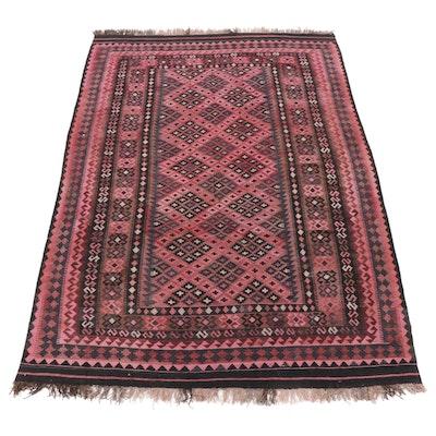 6'6 x 9'11 Handwoven Afghan Kilim Tribal Rug