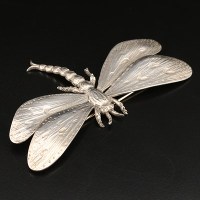 Vintage Guglielmo Cini Sterling Dragonfly Brooch
