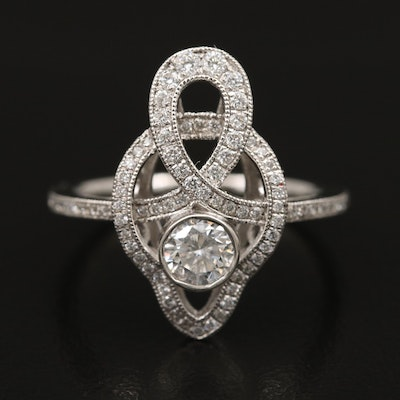 Platinum Diamond Loop Ring