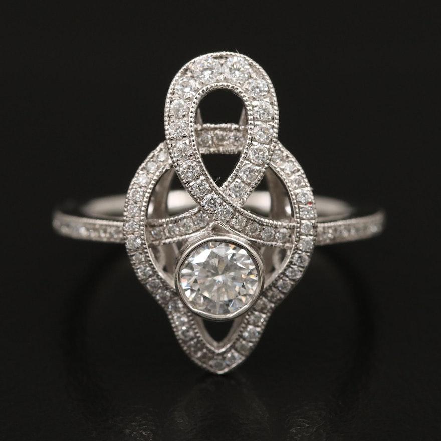 Platinum Diamond Loop Ring