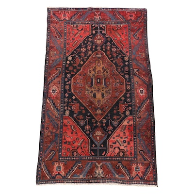 4'4 x 7'11 Hand-Knotted Turkish Kula Wool Area Rug