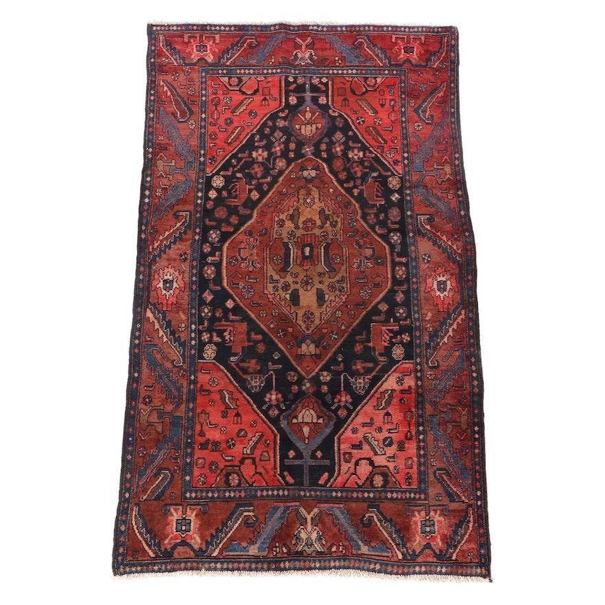 4'4 x 7'11 Hand-Knotted Turkish Kula Wool Area Rug