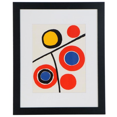 "Alexander Calder Color Lithograph for ""Derriere le Miroir,"" 1973"