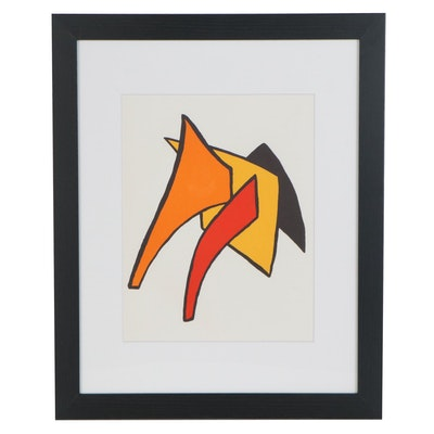 "Alexander Calder Color Lithograph for ""Derrière le Miroir,"" 1963"