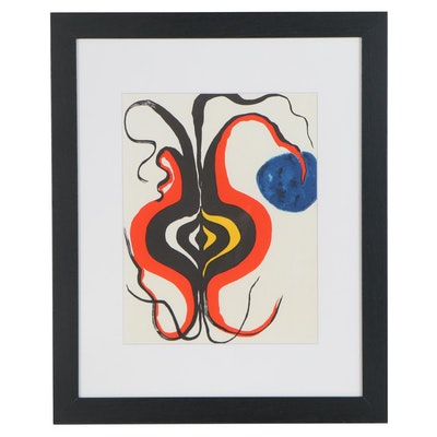 "Alexander Calder Color Lithograph for ""Derrière le Miroir"", 1966"
