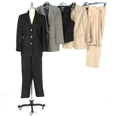 Lauren Ralph Lauren Pantsuits and Vest with Silk and Wool Blazers