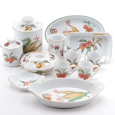 """Royal Worcester """"Evesham Gold"""" Porcelain Serveware and Bakeware"""